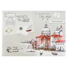 """Скетчбук А5, 40 листов на скрепке """"Венеция"""", обложка мелованный картон, глянцевая ламинация"""