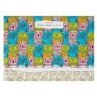 """Скетчбук А5, 40 листов на скрепке """"Цветные совы"""", обложка мелованный картон, глянцевая ламинация"""