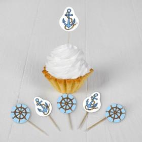 Набор для украшения праздника «Морское путешествие», наклейки, 12 шпажек в Донецке
