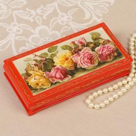 Box - copernica Roses, red, 8,5×17 cm, lacquer miniature