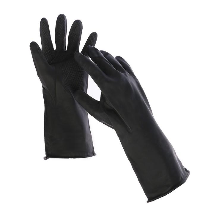 Перчатки резиновые, хозяйственные, безразмерные