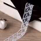 Кружево капроновое, 28мм, 10±1м, цвет белый