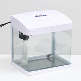 Аквариум SeaStar HX-240F, 10 л, белый (в комплекте LED-лампа, фильтр)