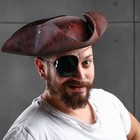 """Карнавальная шляпа """"Пират"""", 56-58 см, цвет коричневый"""