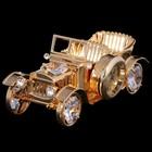 Сувенир «Машина», с часами, 4х8,5х3,5 см, с кристаллами Сваровски