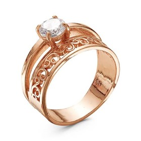 "Кольцо ""Олимп"", позолота, 17,5 размер"
