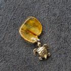 """Keychain mascot """"Turtle"""", natural amber"""
