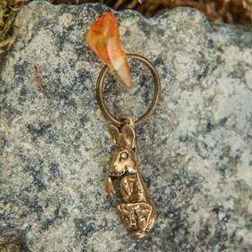 Брелок-талисман 'Зайка', натуральный янтарь Ош