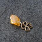 Keychain mascot leaf Clover natural amber
