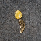 "Keychain mascot ""Wings"", natural amber"
