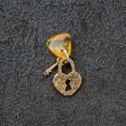 "Keychain mascot ""Castle"", natural amber"