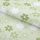"""Бумага гофрированная """"Ромашки на светло-зелёном"""", 50 х 70 см"""