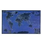 карта Мира 60*90см. Светящаяся в темноте (мат.лам,самоподзаряж.на свету)