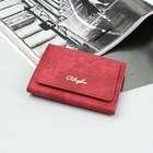 Кошелёк женский, 2 отдела, для карт, для монет, наружный карман, цвет красный