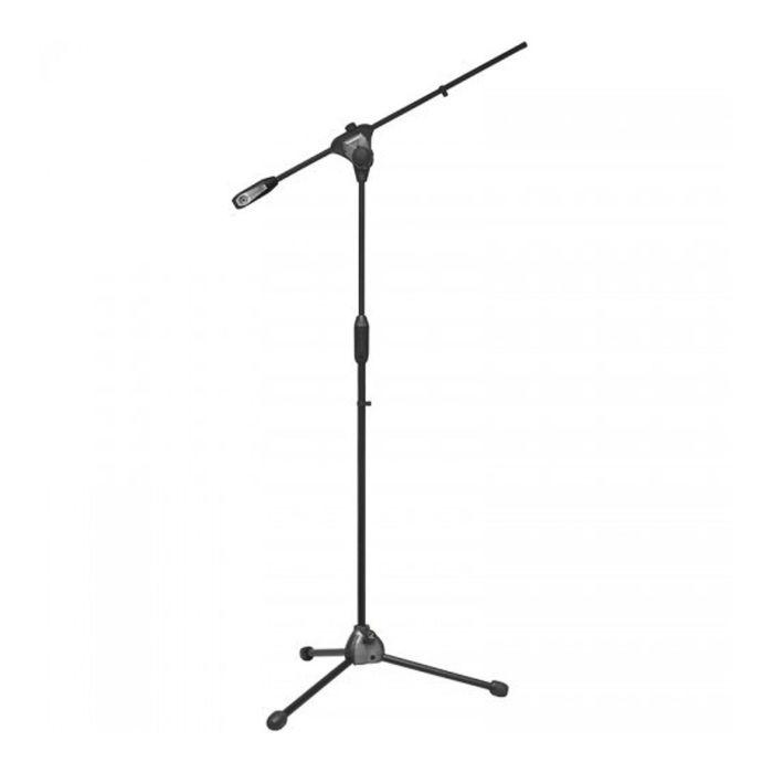 Стойка микрофонная BESPECO MS11 напольная, высота 202 см, длина наклонной части 64 см