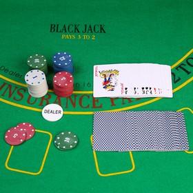 Покер, набор для игры (карты 54 шт, фишки 60 шт с номин.) микс