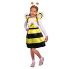 """Карнавальный костюм """"Пчёлка Жужа"""", сарафан, ободок, крылья, р-р 28, рост 98-104 см"""