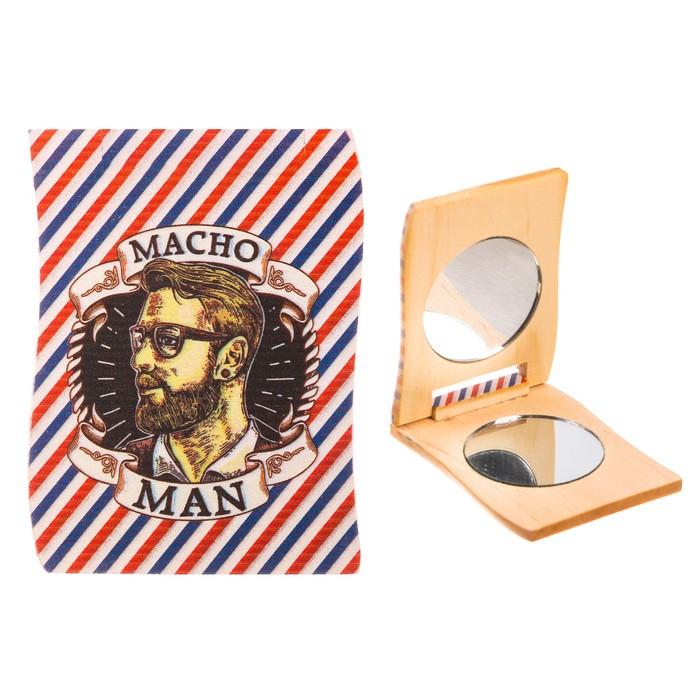 """Деревянное зеркало мужское """"Macho Men"""""""