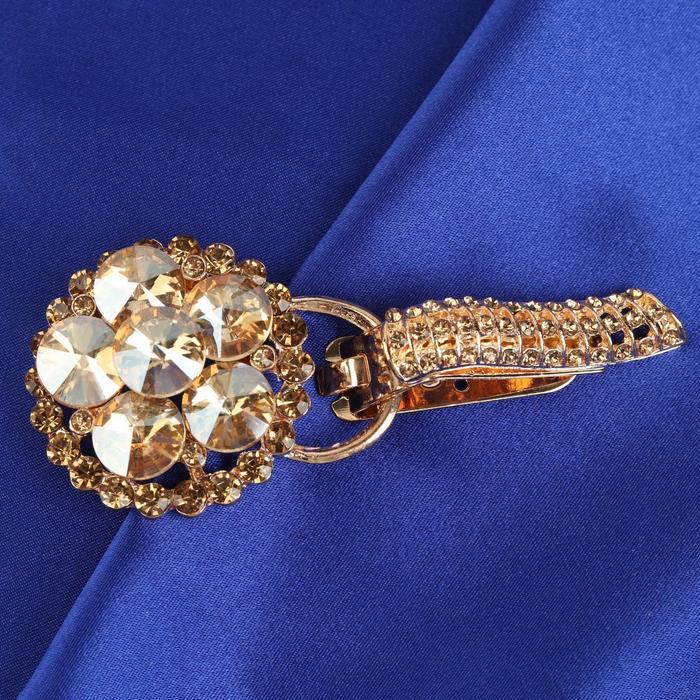 Декоративная застёжка, 8,7 × 3,6 см, цвет золотой