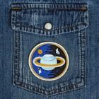 Термоаппликация «Сатурн», d = 6,5 см, цвет синий