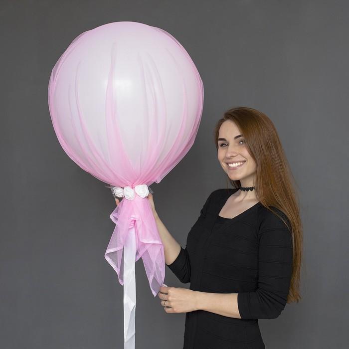 """Шар воздушный с фатином «Розовый закат»,18"""" - фото 308470330"""