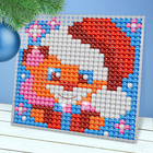 "New year, cross stitch, plastic canvas, ""Teddy Bear"" plastic needle"