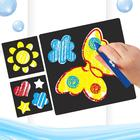 """A drawing kit crayons in the bathroom """"Wonderful day!"""", stencils, 3 PCs crayons 3 colors"""