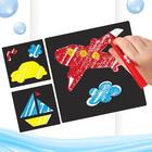 """Crayons for drawing in the bathroom """"Transport"""", set: 3 PCs crayons, stencils, 3 PC."""