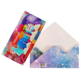 Конверт для денег 'С Днем Рождения!' пироженки, подарки Ош