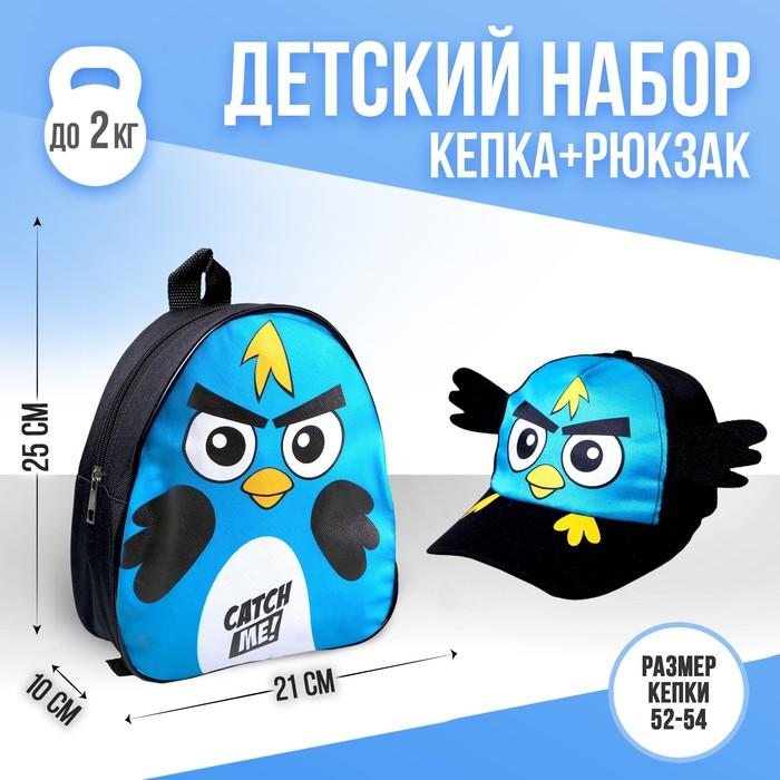 "Рюкзак 21 х 25 см, кепка 52-56 см, детский набор ""Птичка"""