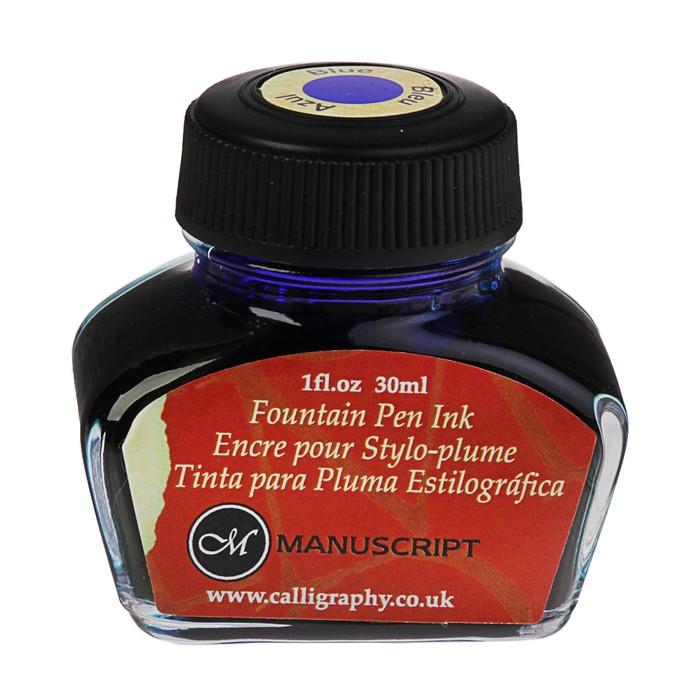Чернила для каллиграфии 30 мл Manuscript неводостойкие синий MC0201BE
