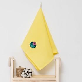 Полотенце детское 'Доляна' Кактус, цвет солнечный 40х70 см, 100% хлопок, 150 г/м² Ош