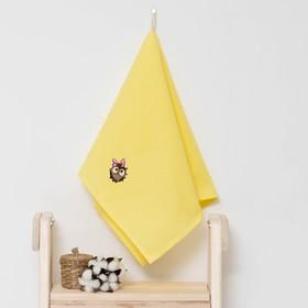 Полотенце детское 'Доляна' Совёнок, цвет солнечный 40х70 см, 100% хлопок, 150 г/м² Ош