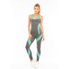 Леггинсы женские спортивные JC001 LEG, цвет серый меланж/мятный, р-р 44-46 (M)