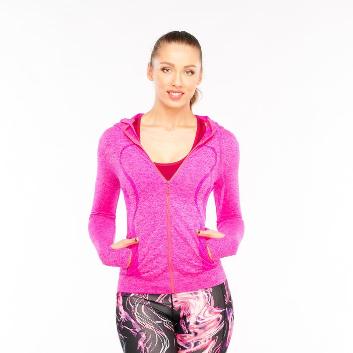 Толстовка женская спортивная 219, цвет розовый меланж, р-р 40-42  (S)
