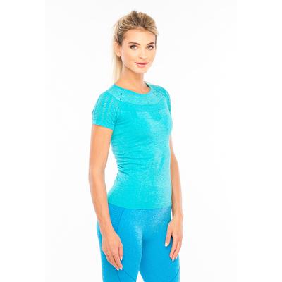 Футболка женская спортивная LF005, цвет бирюзовый меланж, р-р 44-46 (M)