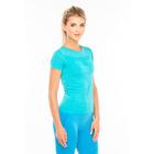 Футболка женская спортивная LF005, цвет бирюзовый меланж, р-р 48-52 (L)