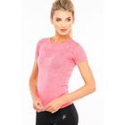 Футболка женская спортивная LF005, цвет розовый меланж, р-р 40-42 (S)