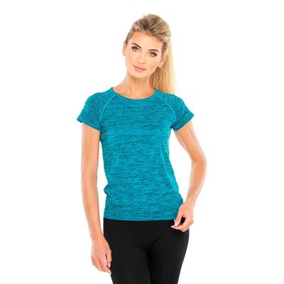 Футболка женская спортивная LF006, цвет синий меланж, р-р 48-54 (L/XL)