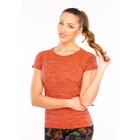 Футболка женская спортивная LF006, цвет оранжевый меланж, р-р 40-46 (S/M)