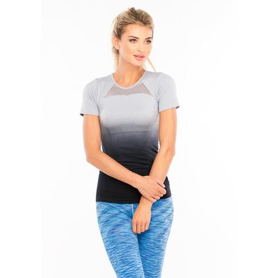 Футболка женская спортивная LF007, цвет серый, р-р 40-46 (S/M)