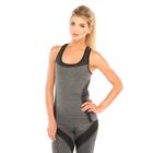 Майка женская спортивная JC002, цвет серый меланж/чёрный, р-р 40-42 (S)