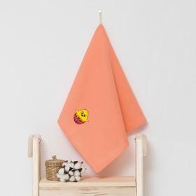 Полотенце детское 'Доляна' Цыпа, цвет коралловый 40х70 см, 100% хл, 150 г/м² Ош