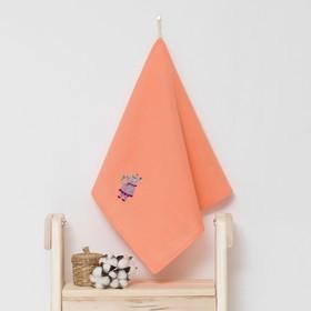 Полотенце детское 'Доляна' Бегомотик, цвет коралловый 40х70 см, 100% хлопок, 150 г/м² Ош
