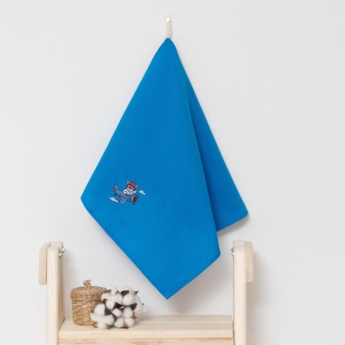 """Полотенце детское """"Доляна"""" Мишка, цвет небесный 40х70 см, 100% хлопок, 150 г/м²"""