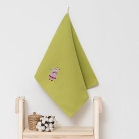 Полотенце детское 'Доляна' Бегомотик, цвет оливковый 40х70 см, 100% хлопок, 150 г/м² Ош