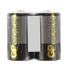 Батарейка солевая GP Supercell Super Heavy Duty, 13S R20Р, 1.5В, спайка, 2 шт. - фото 7453