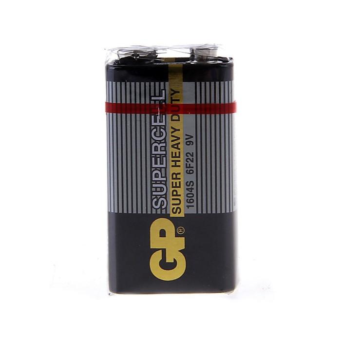 Батарейка солевая GP Super Heavy Duty, 6F22, крона, спайка, 1 шт.