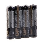Батарейка солевая GP Supercell Super Heavy Duty, ААА, R03-4S, 1.5В, спайка, 4 шт.