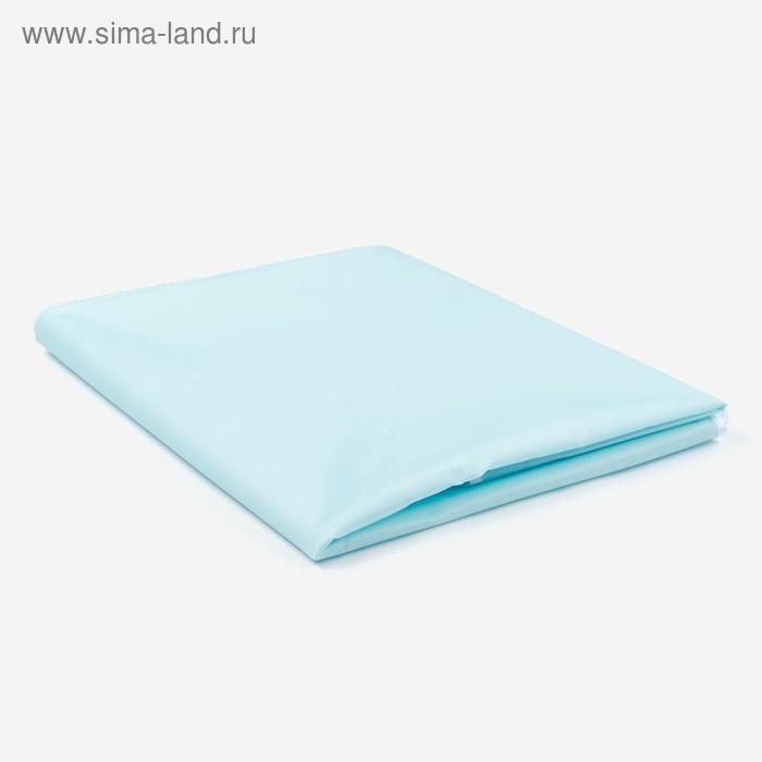 """Наматрасник на резинке """"дышащий"""", 70*120 см, цвет голубой"""